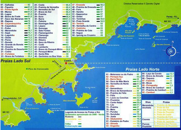 Foto Mapa das Praias Ubatuba - Cópia