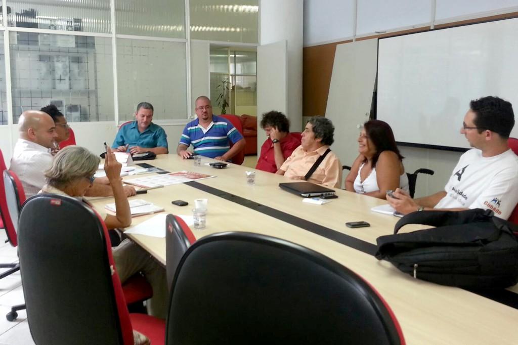 Reunião do Coletivo de Deficientes da CUT São Paulo, no dia 1º de março