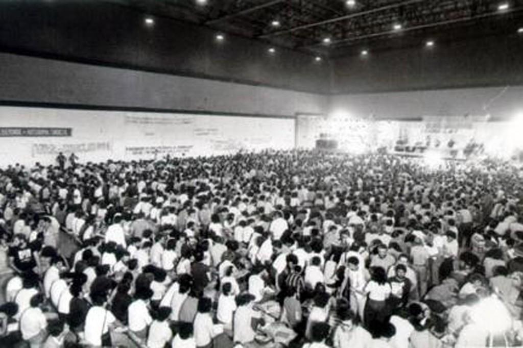 Congresso de fundação da CUT, em São Bernardo do Campo (SP).Crédito Vera Jursis