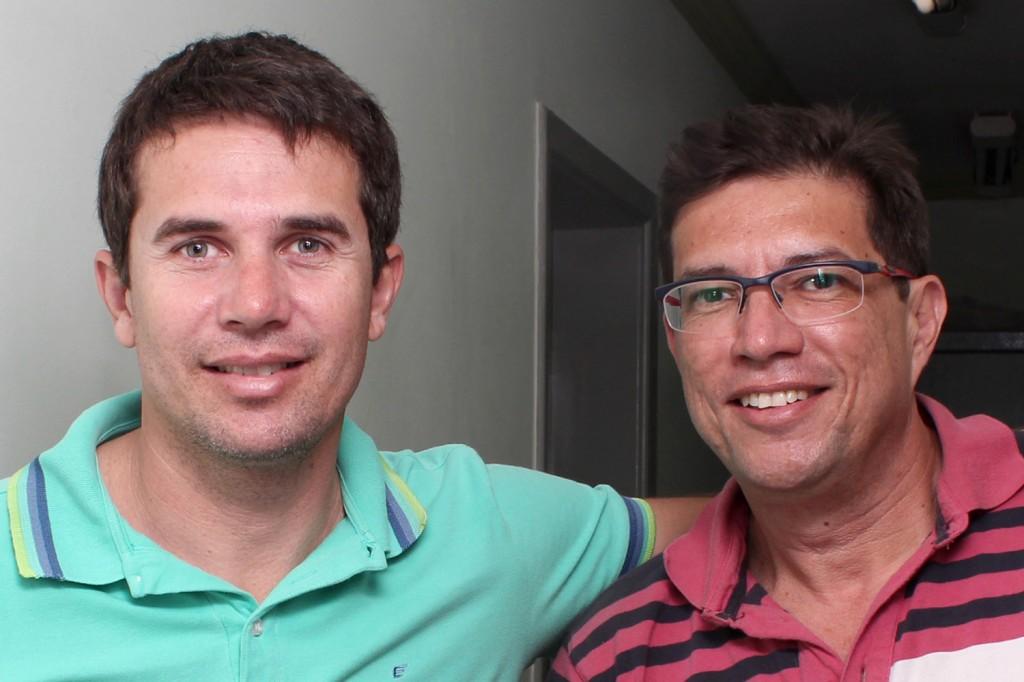 O vice-presidente eleito Sérgio da Silva, tesoureiro do Sindicato dos Metalúrgicos, e o presidente eleito Gérson Leme