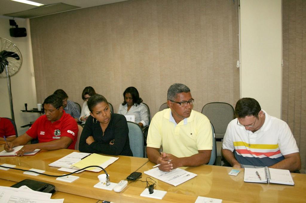 Os dirigentes de Pinda, Luciano Tremembé e Francisco Sampaio estiveram presentes na reunião (Crédito Mídia Consulte)