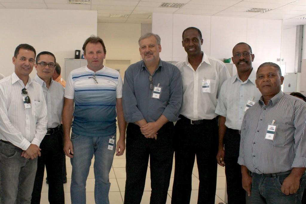 Carlinhos Casé, o Procurador Geral e Controller Financeiro da GV - Enrique Flores Gonzáles, Romeu, Berzoini, Irineu, José Carlos e Bosquinho