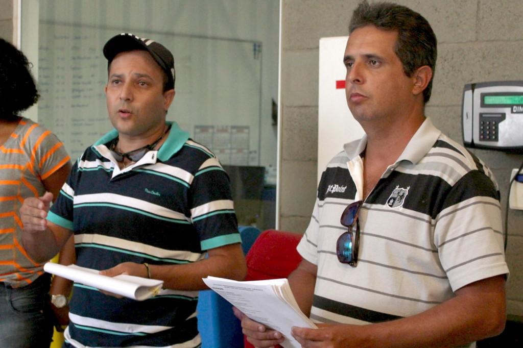 """Os dirigentes sindicais Luciano da Silva - """"Tremembé"""" e Gilson Leandro - """"Chupeta"""""""