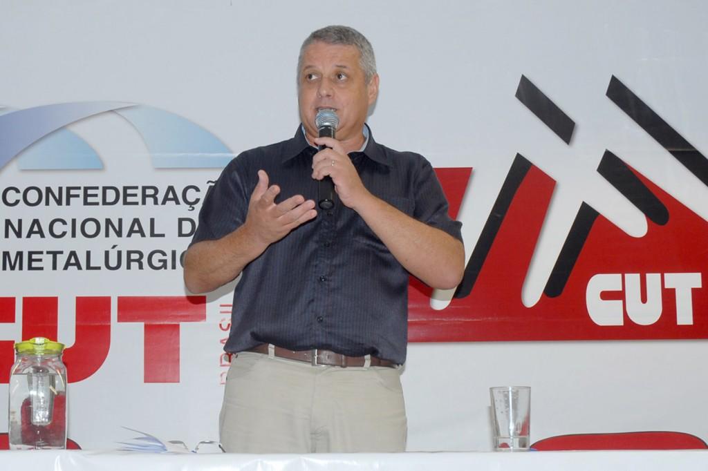 """O presidente da FEM-CUT/SP, Valmir Marques - """"Biro-Biro"""" (Crédito Mídia Consulte)"""