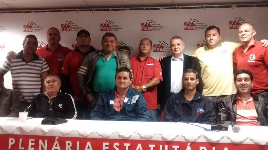 Direção de Pinda presente na Plenária da Campanha Salarial (Crédito foto: Divulgação)