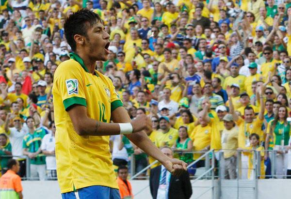 Neymar comemora primeiro gol - foto: google