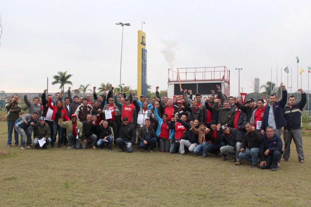 Direção do sindicato unida junto a outros sindicatos da CUT, metalúrgicos e de outras categorias
