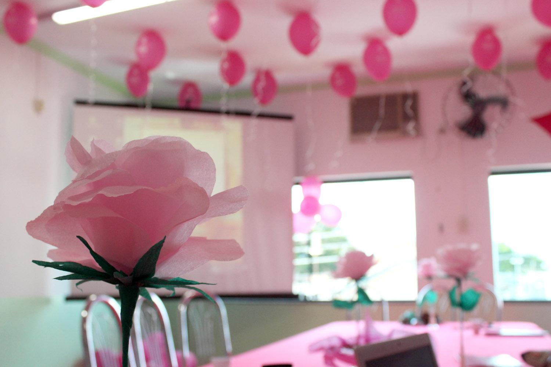 Famosos Outubro Rosa Decoraç u00e3O PP08 Ivango # Decoração Mesa Outubro Rosa