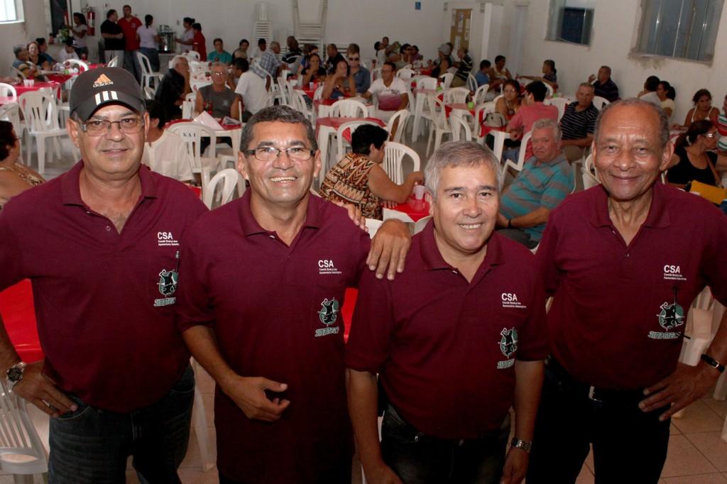 Os diretores do CSA: José Maria - Mineirinho, José Alves Filho - Sabiá, Sérgio Aparecido e Dirceu de Paula
