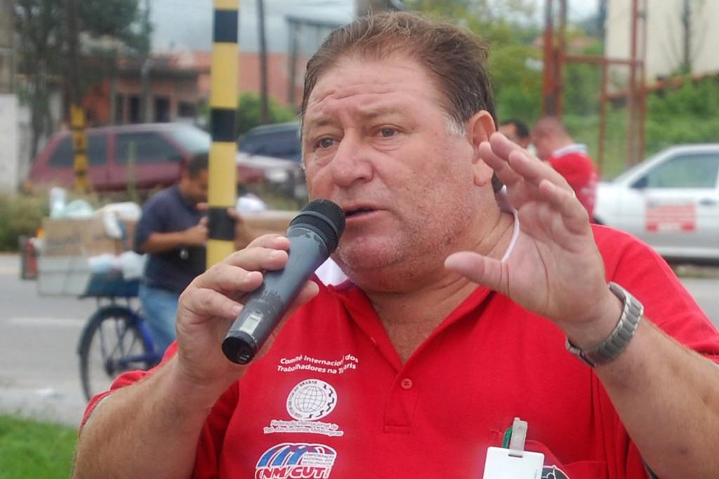 "O presidente do sindicato, Renato Marcondes - ""Mamão"", metalúrgico na Confab Tubos"