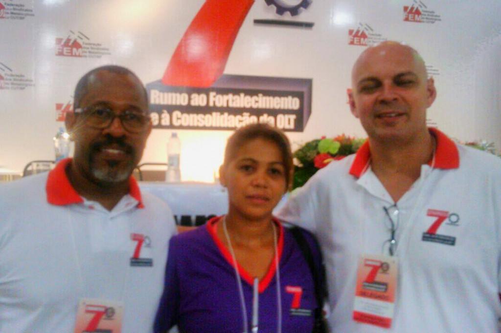 José Carlos, Maria Auxiliadora e Marcelo Pepeo, novos representantes do Sindicato dos Metalúrgicos de Pinda na federação (Crédito Divulgação)