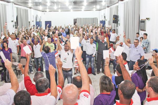 Votação dos delegados do Congresso (Crédito: Torres Foto e Vídeo)