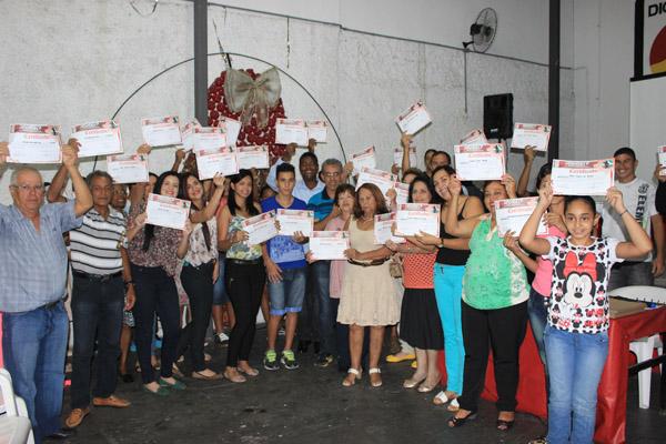 Cerimônia de conclusão do curso uniu turmas da sede e da subsede do sindicato (Foto: Natanael Guimarães)