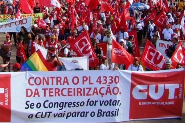 CUT, centrais e movimentos vão à luta contra PL da terceirização (Foto: Luiz Carvalho)