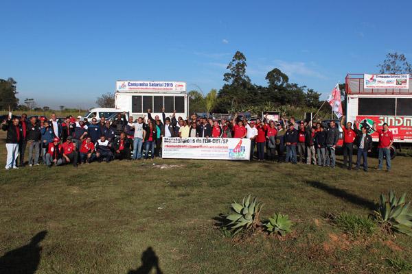 Sindicalistas metalúrgicos de Pinda, Taubaté, ABC, Sorocaba, Cajamar e também os condutores do Vale do Paraíba