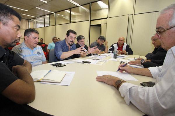 Primeira rodada de negociações da campanha salarial com os sindicatos patronais do Grupo 8. Foto: Edu Guimarães/SMABC