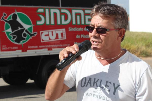 O diretor de Política Sindical, Vicente Caetano - Serrinha
