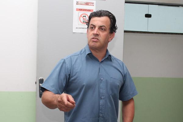 O secretário de Formação, Celso Antunes, sindicalista na Novelis