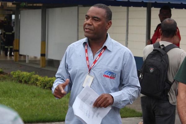O dirigente sindical na Harsco, Valdir Augusto