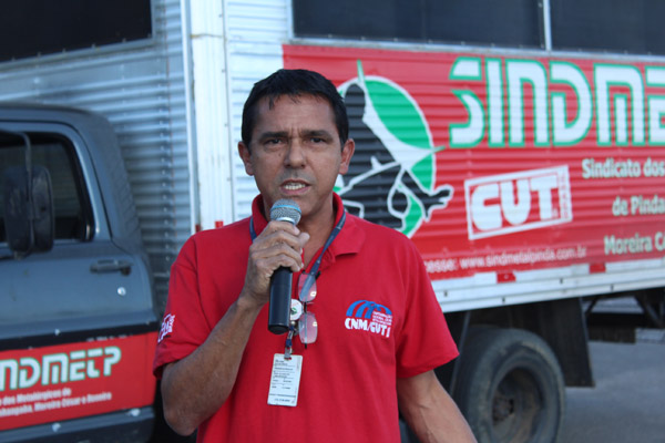 O dirigente sindical José Ivanez - Gato
