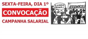 Assembleia vota eixo da Campanha Salarial nesta sexta-feira