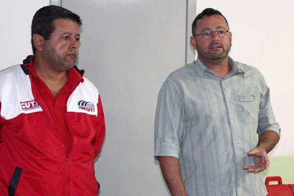 O secretário de Formação, Marcos Prudente, e o presidente Herivelto Vela