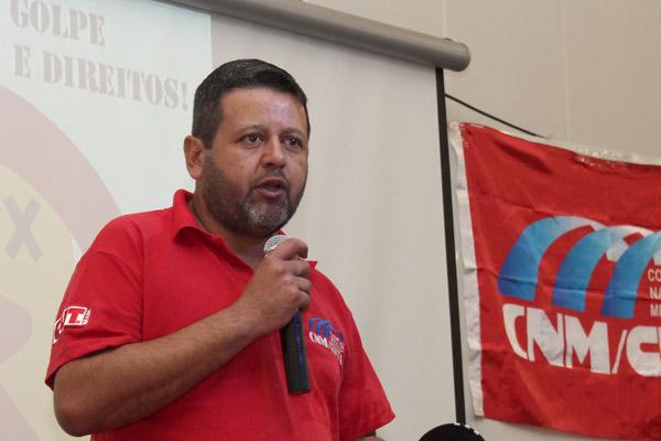 O secretário de Formação do sindicato, Marcos Prudente