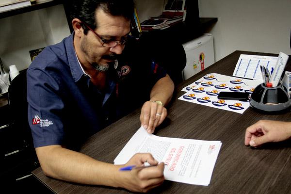 Para Luizão, há um viés político em não atender a pauta dos trabalhadores (foto Marina Selerges FEM-CUT/SP)