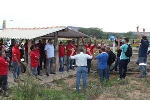 Trabalhadores da Harsco entram em greve por salário