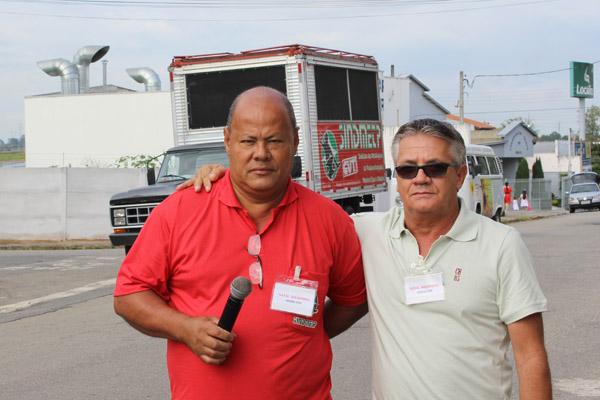 Os diretores do Dept. de Política Social, Ronaldo Cardoso - Pit Bull e Vicente Caetano - Serrinha (foto Tatiane Vieira/Tribuna do Norte)