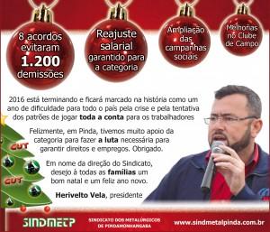 Mensagem de Natal e expediente do sindicato