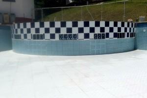 Reforma melhora proteção da piscina infantil
