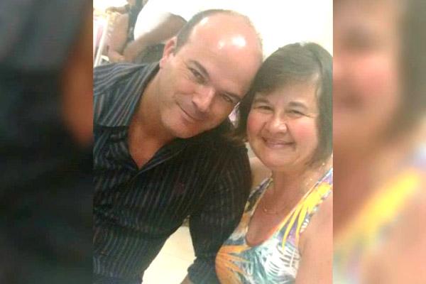 Sérgio com a esposa, Luciana Subtil (foto arquivo familiar)