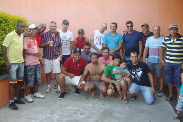 Os companheiros da fábrica (foto arquivo familiar)