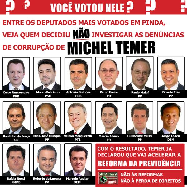 2017_08_03 Deputados que votaram para não investigar Temer-quadrado - Cópia