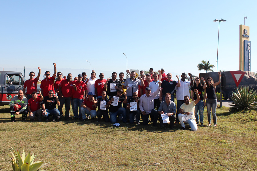 Ato reuniu sindicalistas de Pindamonhangaba, Sorocaba, São Paulo, Volta Redonda (RJ), Pernambuco (PE) e São Leopoldo (RS)