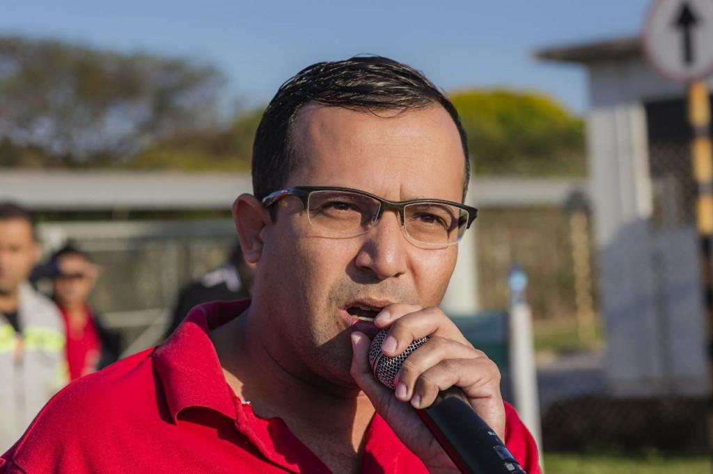 O secretário geral Luciano Tremembé, sindicalista pela Confab (foto Gilson Leandro)