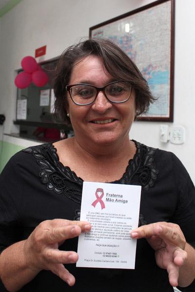 Valéria Cândido, presidente da Associação Fraterna Mão Amiga
