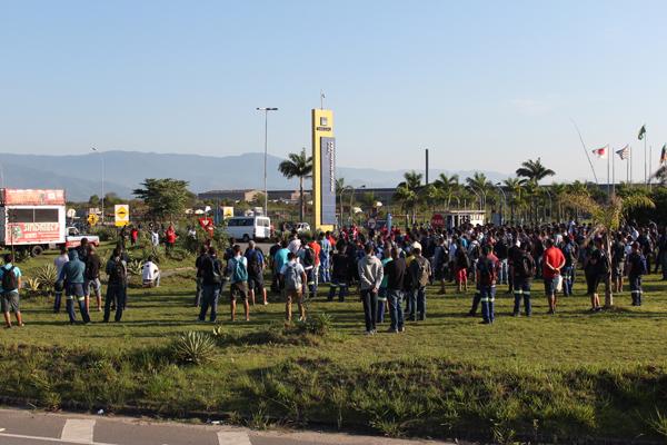 Paralisação dessa quarta-feira, que contou com adesão total dos trabalhadores