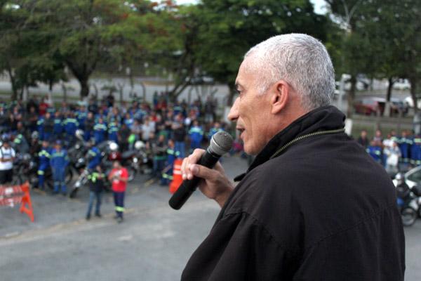 Juarez, dirigente do  dirigente do Sindicato dos Metalúrgicos de Taubaté, que também deu apoio na greve