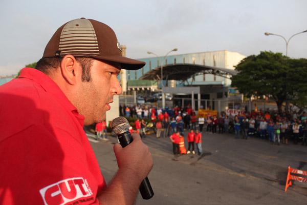 O vice-presidente do sindicato, André Oliveira