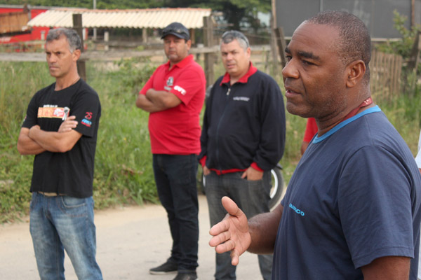 O dirigente sindical da Harsco, Valdir Augusto