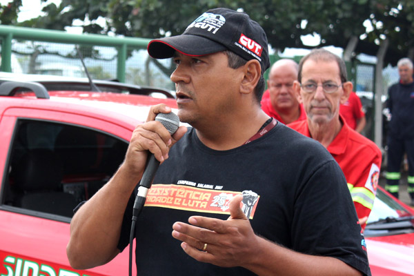 O dirigente sindical Francisco Sampaio