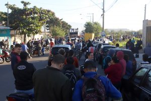 Protesto paralisa Distrito Industrial em Pindamonhangaba pela Greve Geral