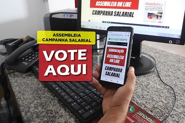 Vote aqui! Participe da assembleia do eixo da Campanha Salarial 2021