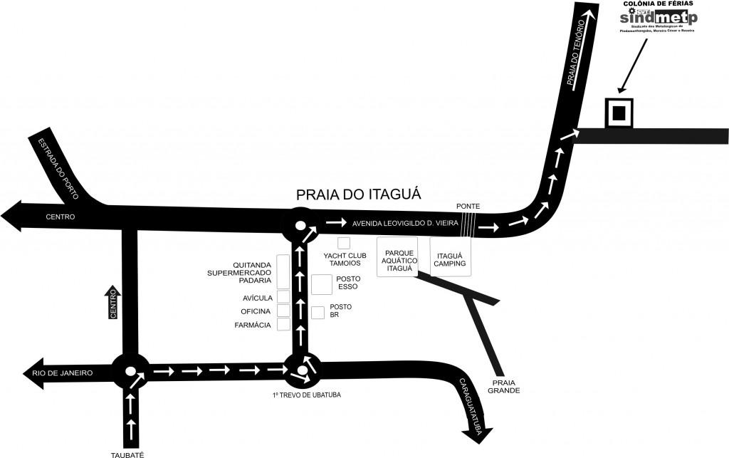 Mapa Colonia de Férias de Ubatuba