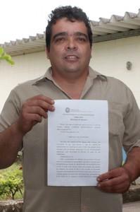Nelson da Costa Dutra, funcionário reintegrado na Gerdau após sentença da Justiça do Trabalho