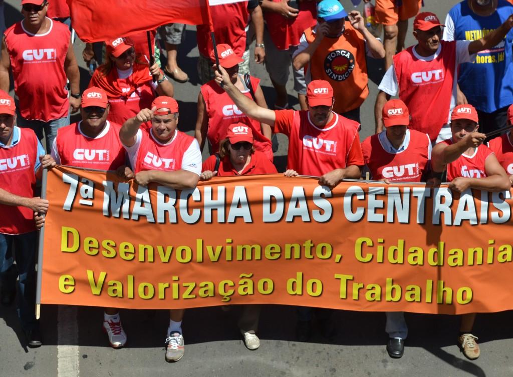 7ª Marcha das Centrais Sindicais em Brasília.2.Crédito Marcello Casal Jr. - ABr