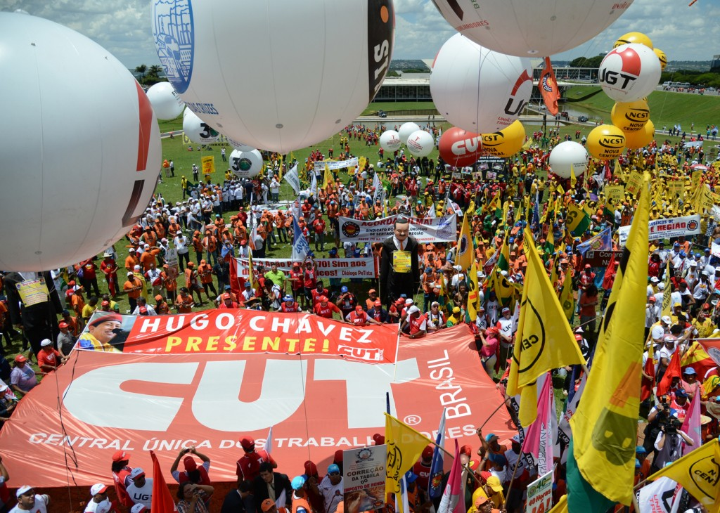 50 mil trabalhadores lotaram Brasília. Crédito Marcello Casal Jr. - ABr