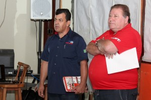 O diretor de Formação do sindicato, Celso Antunes, e o presidente Renato Mamão